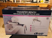 New in Box Drive Transfer Bathtub Bench with Sliding Seat.