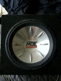 black and gray MTX Audio subwoofer Kitchener, N2H 6S4