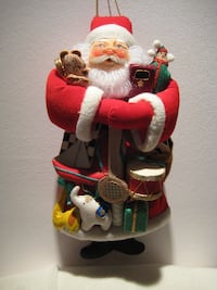 Get ready for Holidys -  Santa - 11 inches tall - made w fabric