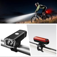 Brand New LED Rechargeable Bicycle Headlight Front Light+Rear Light Bi Vancouver