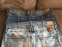 Four blue and gray denim jeans Mississauga, L5N 7J4