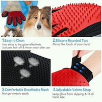 Pets grooming gloves  Montreal