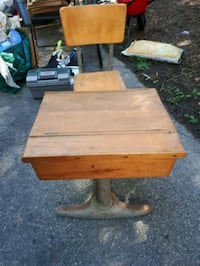Vintage  child school desk and chair Beaconsfield, H9W 4J7