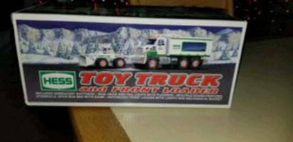 NEW IN BOX 2008 HESS TOY TRUCK AND FRONT LOADER.  BATTERIES INCLUDED