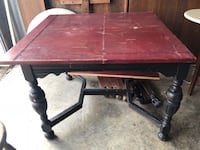 Black/Red Dining Table Franklin, 37064