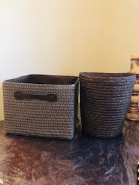 Bouclair basket set from a pet and smoke free home for only 12$ Vaughan, L6A 3A5