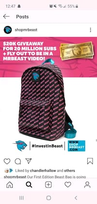 BRAND NEW NEVER USED MR BEAST LIMITED EDITION BACK