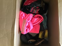 a box of clothes and shoes all together for $10 you will find medium large and small! i dont wear them anymore Dieppe, E1A 1G8