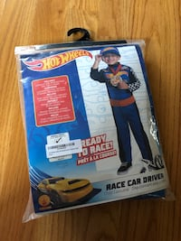 Hot wheel race car driver costume boys