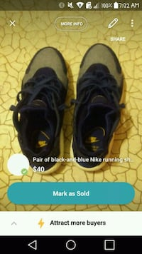 pair of black Nike running shoes screenshot Washington, 20011