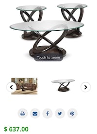 Atomic Coffee Table and One End Tables - Brown Cherry Richmond Hill, L4E 0W2