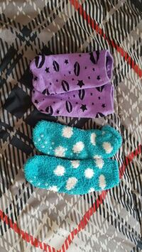 2 pairs children's size Sm-Med socks. Good condition.