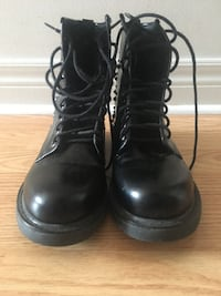 Black combat boots with spikes on the side BRAMPTON
