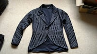quilted black notch collar suit jacket Worcester, WR4 9SA