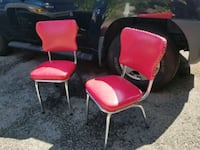 Pair of RARE HOT PINK 1950s chairs