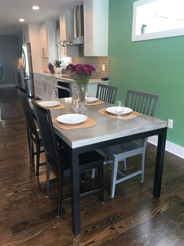 Concrete dining table - Crate and Barrel