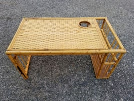 Wicker tray, bamboo, rattan, breakfast in bed, new