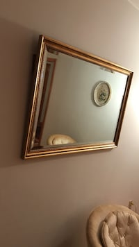 Rectangular brown wooden framed wall mirror Charles Town, 25414