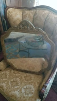 brown wooden framed glass top coffee table Hagerstown, 21742