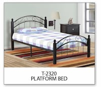 Brand new wood and metal bed frame warehouse sale  550 km
