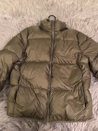 Olive Green Down Feather Puff Jacket  Washington, 20004