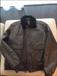 COACH Men's Leather Brown Jacket with Fur Toronto, M6K 3R8