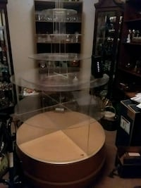 white and brown wooden framed glass display cabinet Nappanee, 46550