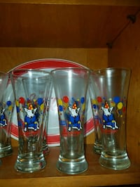 three clear glass beer mugs Cleveland, 44111