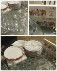clear glass bowl and cups Laval, H7N 6K5