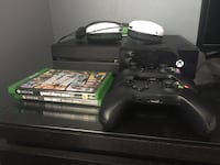 Black xbox one console with controller and game cases Corona, 92882