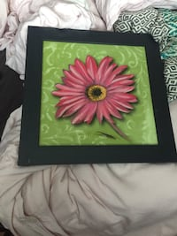 green and pink flower painting Kitchener, N2R 1B6