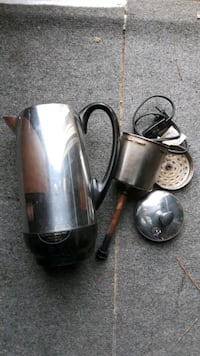 Vintage 12-cup Farberware percolator stainless steel coffee pot Portsmouth, 23704