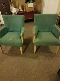 2 cloth covered arm chairs for project Eugene, 97401