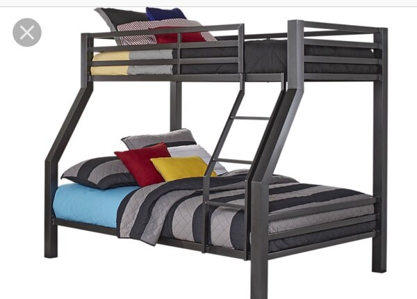 Full And Twin Size Bunk Beds Mattresses Not Included Usage A