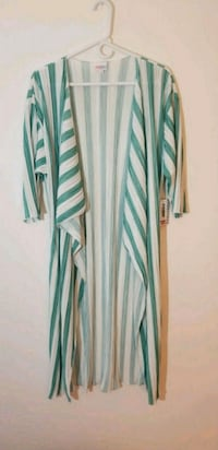 green and white striped long-sleeved dress Dayton, 45402
