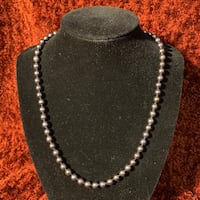 "18"" Black Pearl necklace 14k Gold Clasp Chantilly, 20151"