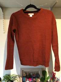 Trendy burnt orange sweater Ann Arbor, 48104