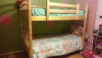 Tan wooden bunk bed with mattress Lake Havasu City, 86404