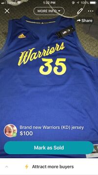 Warriors jersey (Durant) (2XL) Campbell, 95008