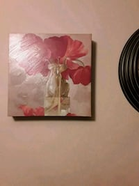 white and pink flower painting Edmonton, T6K 0J9