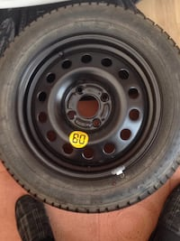 black bullet hole vehicle wheel and tire 5759 km