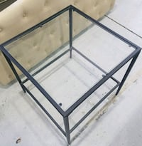 Brand new - Metal & Glass  End Table / Side Table