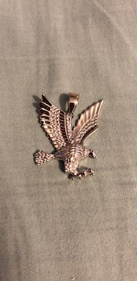 Sterling silver eagle pendant with CZ Taylor, 48180
