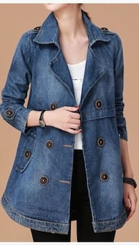 blue denim button-up jacket Frederick, 21703