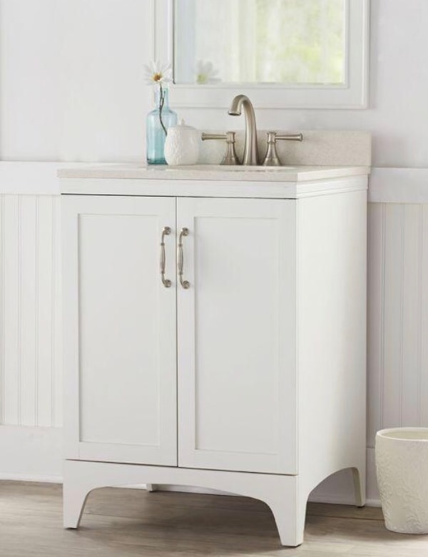New Mayworth 24 Inch. White Bathroom Vanity with Top