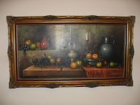 Antique oil painting large 55x31 inches. From France 539 km