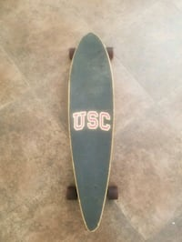 black and brown USC longboard Downey, 90241