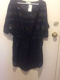 New dress size L sequences on the front , Sheer Material Toronto