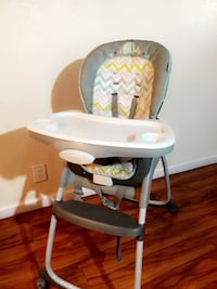 baby's white and gray high chair San Jose, 95122