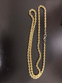 Gold plated Rope chain Brampton, L7A